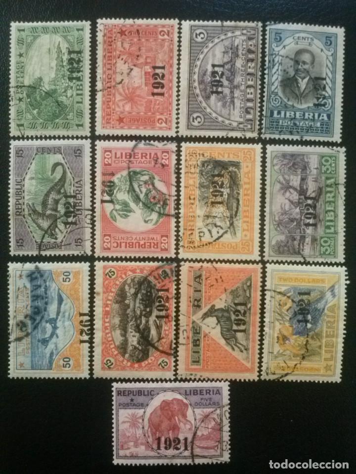 LIBERIA , YVERT Nº 180 - 193 , SERIE COMPLETA A FALTA DEL 184 , 1921 (Sellos - Extranjero - África - Liberia)