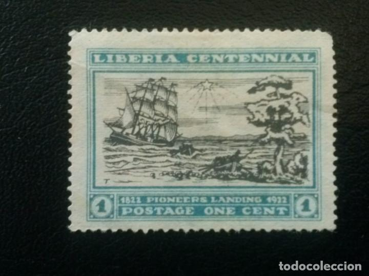 LIBERIA , YVERT Nº 194 SIN GOMA , 1923 , BARCOS (Sellos - Extranjero - África - Liberia)