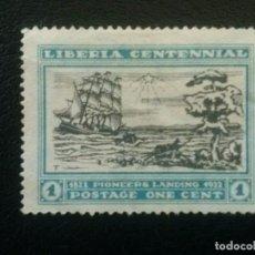 Sellos: LIBERIA , YVERT Nº 194 SIN GOMA , 1923 , BARCOS. Lote 89384168