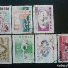Timbres: LIBERIA , YVERT Nº 333 - 335 + 336 - 339 , 2 SERIES COMPLETAS 1956. Lote 89535180