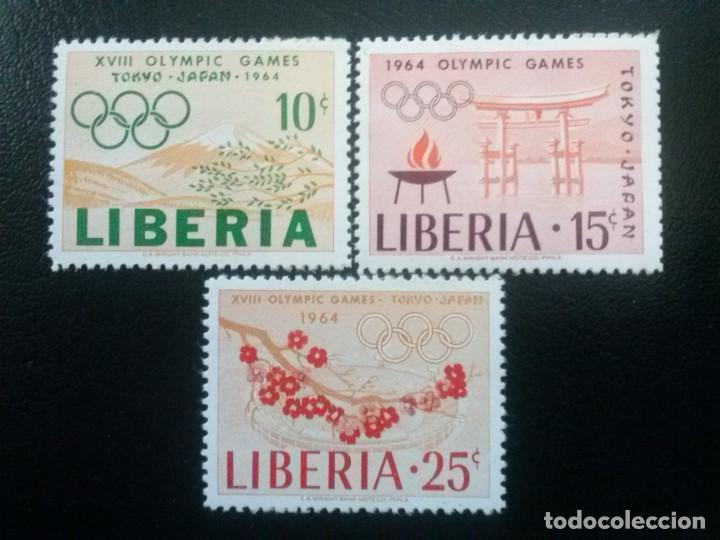 LIBERIA , YVERT Nº 396 - 398 ** SERIE COMPLETA SIN CHARNELA 1964 DEPORTES (Sellos - Extranjero - África - Liberia)
