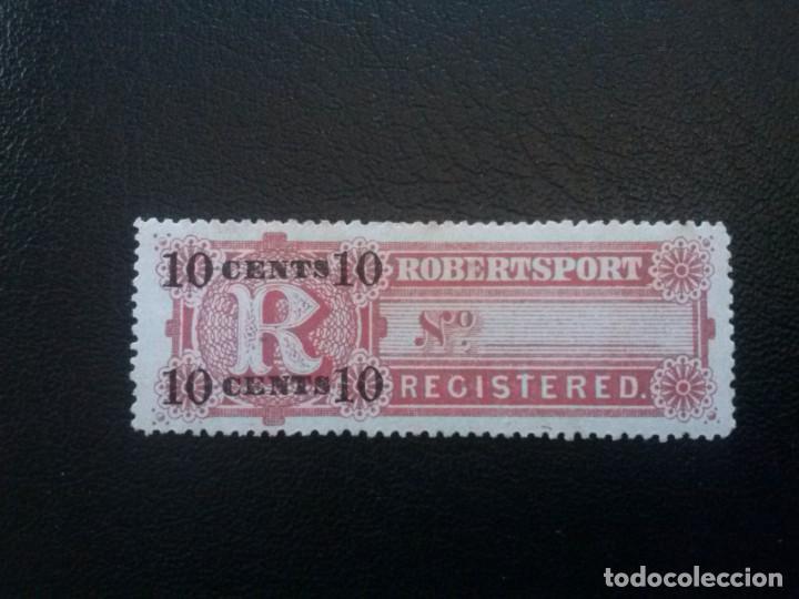 LIBERIA , CARTAS REGISTRADAS ,YVERT Nº 9 * CHARNELA , 1894 (Sellos - Extranjero - África - Liberia)