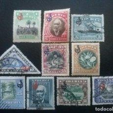 Sellos: LIBERIA , SERVICIO OFICIAL ,YVERT Nº 59 - 68 SERIE COMPLETA SIN Nº 69, 1909-12. Lote 89542056
