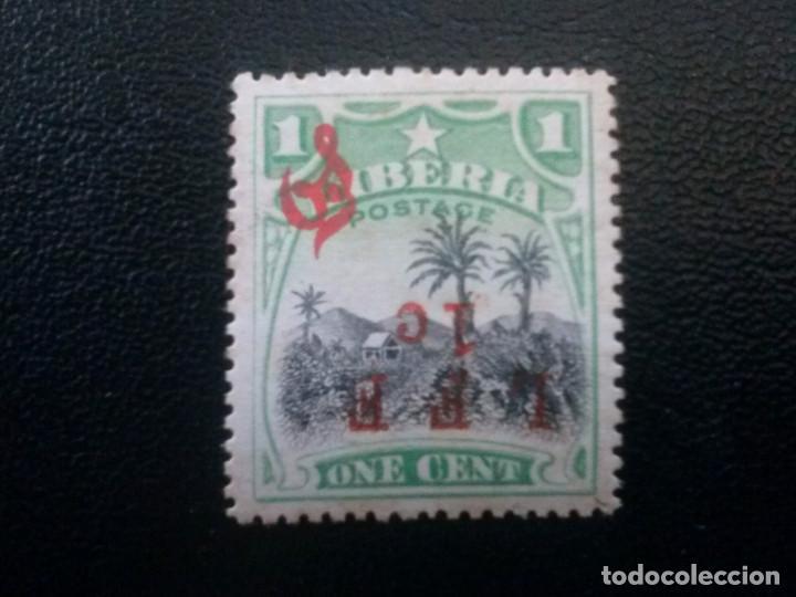 LIBERIA , SERVICIO OFICIAL ,YVERT Nº 84 B , SOBREC. INVERTIDA, 1916 (Sellos - Extranjero - África - Liberia)