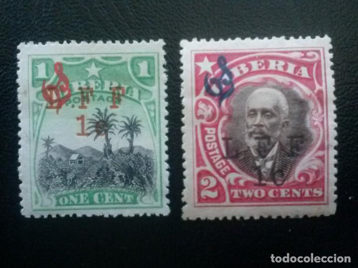 LIBERIA , SERVICIO OFICIAL ,YVERT Nº 84 + 85 * CHARNELA, 1916 (Sellos - Extranjero - África - Liberia)