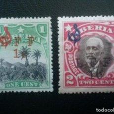 Sellos: LIBERIA , SERVICIO OFICIAL ,YVERT Nº 84 + 85 * CHARNELA, 1916. Lote 89543460