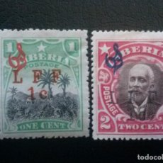 Sellos: LIBERIA , SERVICIO OFICIAL ,YVERT Nº 84 + 85 * CHARNELA, 1916. Lote 89543492