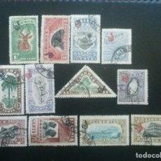 Sellos: LIBERIA , SERVICIO OFICIAL ,YVERT Nº 90 - 101 , SERIE SIN EL Nº 102 , 1918. Lote 89544108