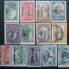 Sellos: LIBERIA , SERVICIO OFICIAL ,YVERT Nº 119 - 132, SERIE SIN EL Nº 131 , 1921. Lote 89545372