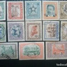 Sellos: LIBERIA , SERVICIO OFICIAL ,YVERT Nº 133 - 145 SERIE SIN EL 146, 1923. Lote 89547508