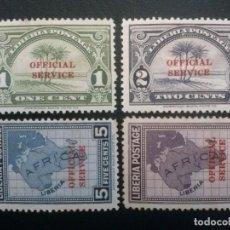 Sellos: LIBERIA , SERVICIO OFICIAL ,YVERT Nº 149 , 150, 152 Y 154 * CHARNELA, ÓXIDO, 1928-29. Lote 89548116