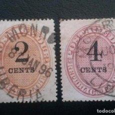 Sellos: LIBERIA , TASAS ,YVERT Nº 3 + 4 , 1894. Lote 89548632