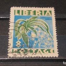 Sellos: SELLO USADO. LIBERIA. 1955. FLORES. Lote 101529359