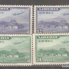 Sellos: LIBERIA,1944,CAT.YT.PA 38 Y PA 39. Lote 103412259