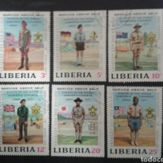 Sellos: LIBERIA. YVERT 534/9. SERIE COMPLETA USADA. SCOUTS.. Lote 104489576