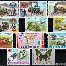 Sellos: LIBERIA. 11 VALORES .*MH (18-105). Lote 113186347