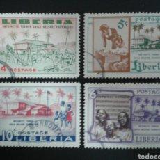 Sellos: LIBERIA. YVERT 342/5. SERIE COMPLETA USADA. ORFELINATO. Lote 117082336