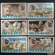 Sellos: LIBERIA. YVERT 593/8. SERIE COMPLETA USADA. ESPACIO. APOLLO 17.. Lote 117082751
