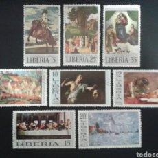 Sellos: LIBERIA. YVERT 465/72. SERIE COMPLETA USADA. PINTURAS.. Lote 117173018