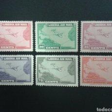 Sellos: LIBERIA. YVERT A-32/7. SERIE COMPLETA NUEVA CON CHARNELA. AVIONES.. Lote 117173495