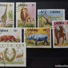 Sellos: SELLOS DE FAUNA DE LIBERIA. Lote 137577350