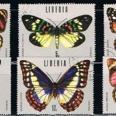 Francobolli: LIBERIA - LOTE DE 6 SELLOS - MARIPOSAS (USADO) LOTE 6. Lote 153942322