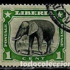 Sellos: LIBERIA SCOTT: 101-(1906) (ELEFANTE AFRICANO) USADO. Lote 155853866