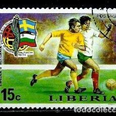 Sellos: LIBERIA SCOTT: 680-(1974) (FUTBOL: MUNDIAL DE ALEMANIA) USADO. Lote 155855626