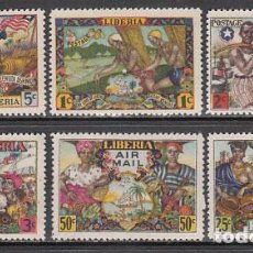 Sellos: LIBERIA - CORREO 1947 YVERT 287/90+A.59/60 ** MNH. Lote 155947860