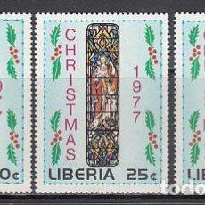 Sellos: LIBERIA - CORREO 1977 YVERT 751/3 ** MNH NAVIDAD. Lote 155948148