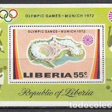 Sellos: LIBERIA - HOJAS YVERT 59 ** MNH OLIMPIADAS DE MUNICH. Lote 155948942