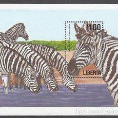 Sellos: LIBERIA - HOJAS YVERT 421 ** MNH FAUNA. Lote 155949006