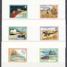 Sellos: LIBERIA - HOJAS LOLLINI 4330L1/6B ** MNH TRANSPORTES. Lote 155949010