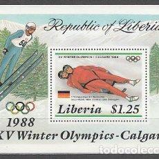 Sellos: LIBERIA - HOJAS YVERT 111 ** MNH OLIMPIADAS DE CALGARY. Lote 155949018