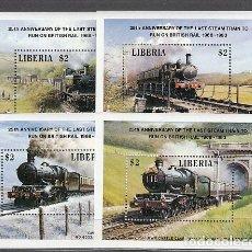 Sellos: LIBERIA - HOJAS YVERT 126/9 ** MNH TRENES. Lote 155949054
