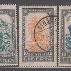 Sellos: LIBERIA - LETRA DE CAMBIO YVERT 35/9 O BARCOS. Lote 155949070