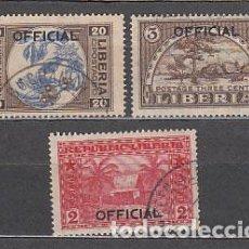Sellos: LIBERIA - SERVICIO YVERT 105/7 O. Lote 155949098
