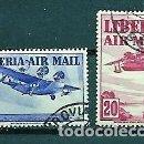 Sellos: LIBERIA,1938,CORREO AÉREO,USADOS,YVERT 12-13. Lote 159444618
