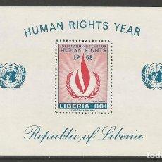 Sellos: LIBERIA - 1968 AÑO DE LOS DERECHOS HUMANOS - BLOQUE NUEVO - MIRE MIS OTROS LOTES. Lote 160537330