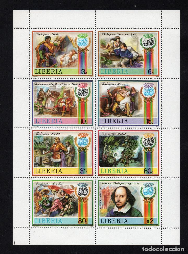 LIBERIA 1047/54** - AÑO 1987 - HOMENAJE AL ESCRITOR WILLIAM SHAKESPEARE (Sellos - Extranjero - África - Liberia)