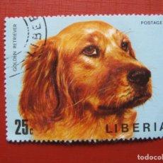 Sellos: LIBERIA 1974, PERROS, YVERT 643. Lote 176475043