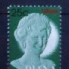 Sellos: LIBERIA LADY DIANA SELLO NUEVO. Lote 178839548