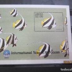 Sellos: LIBERIA 1998 - HOJA BLOQUE NUEVO. Lote 179102958