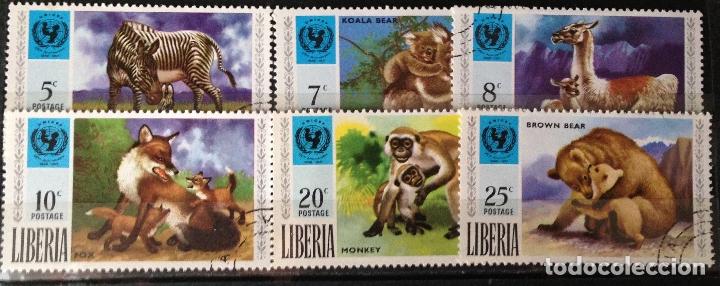 LIBERIA AÑO 1971 SERIE COMPLETA FAUNA SELLOS NUEVOS MNH (Sellos - Extranjero - África - Liberia)