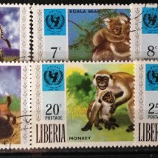 Sellos: LIBERIA AÑO 1971 SERIE COMPLETA FAUNA SELLOS NUEVOS MNH. Lote 181123142