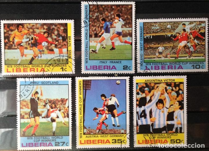 LIBERIA AÑO 1978 SERIE COMPLETA SELLOS NUEVOS CON CHARNELA M.H. MUNDIAL FUTBOL ARGENTINA (Sellos - Extranjero - África - Liberia)