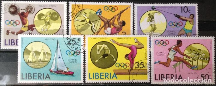 LIBERIA AÑO 1976 SERIE COMPLETA SELLOS NUEVOS M.N.H. OLIMPIADAS (Sellos - Extranjero - África - Liberia)