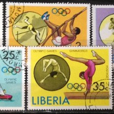 Sellos: LIBERIA AÑO 1976 SERIE COMPLETA SELLOS NUEVOS M.N.H. OLIMPIADAS. Lote 181123686