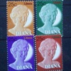 Sellos: LIBERIA LADY DIANA SERIE DE SELLOS NUEVOS. Lote 181721557
