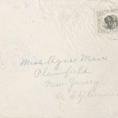 Sellos: LIBERIA. SOBRE YV 53. 1904. 5 CTVOS GRIS Y NEGRO. HARPER A PLAINFIELD (U.S.A.). MATASELLO CIRCULAR. Lote 183145117